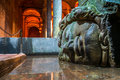 Medusa basilica cistern istanbul famous s head in the in Stock Photography