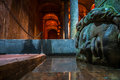 Medusa basilica cistern istanbul famous s head in the in Royalty Free Stock Image