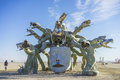 The Medusa at Burning Man 2015 near Center Camp Royalty Free Stock Photo