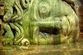 Medusa column base in the basilica cistern istanbul turkish yerebatan sarayı sunken palace or yerebatan sarnıcı sunken is Royalty Free Stock Images