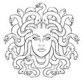 Medusa greek myth creature coloring vector Royalty Free Stock Photo