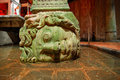 Medusa head the basilica cistern yerebatan sarnici in istanbul turkey Stock Images