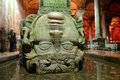 Medusa head the basilica cistern yerebatan sarnici in istanbul turkey Royalty Free Stock Photo