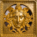 Medusa mask golden close up of Royalty Free Stock Photos