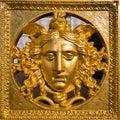 Medusa mask golden Royalty Free Stock Photo