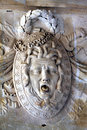 Medusa sculpture in the petit trianon in the park of the palace of versailles near paris in france Stock Photo