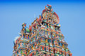 Meenakshi temple detail of in madurai india Stock Photos