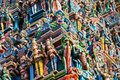 Meenakshi temple detail of in madurai india Stock Images