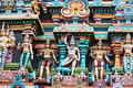 Meenakshi temple detail of in madurai india Royalty Free Stock Images