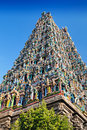 Meenakshi temple detail of in madurai india Stock Photo