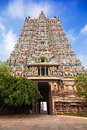 Meenakshi temple gopuram of in madurai india Royalty Free Stock Photography