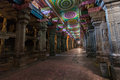 Meenakshi temple inside of hindu in madurai tamil nadu Royalty Free Stock Photos