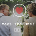 Meet the One Online Matchmaking Sign Up Concept Royalty Free Stock Photo