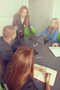 Meeting business in a modern office lens flare and light effect Royalty Free Stock Images