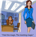 Meeting magic i feel the the Stock Images