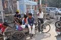 Meeting Point of Rickshaw Drivers Royalty Free Stock Photos