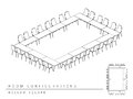 Meeting room setup layout configuration Hollow Square style, per