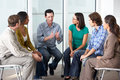 Meeting of support group people in Royalty Free Stock Photo