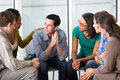 Meeting of support group people in Royalty Free Stock Image