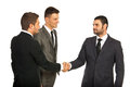 Meeting of three business men Royalty Free Stock Photo