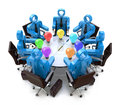 Meeting to discuss new ideas in the design of information related business Royalty Free Stock Image