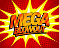 Mega blowout design in pop art style explosive Stock Photos