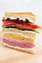 Mega Club Sandwich Royalty Free Stock Photography