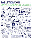Mega collection of business web concepts, hand drawn doodles Royalty Free Stock Photo
