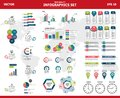 Infographic vector mega set. Rich collection of elements for marketing presentation, business reports, data visualisation, quality