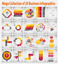 Mega collection infographic template business concept vector illustration Stock Images
