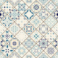 Mega Gorgeous seamless patchwork pattern from colorful Moroccan tiles, ornaments.
