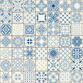 Mega Gorgeous seamless patchwork pattern from colorful Moroccan tiles, ornaments. Can be used for wallpaper, fills, web page Royalty Free Stock Photo