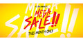 Mega Sale heading yellow design for banner or poster. Sale and d