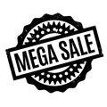 Mega Sale rubber stamp Royalty Free Stock Photo
