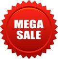 Mega sale seal stamp badge red