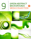 Mega set of green abstract backgrounds Royalty Free Stock Photo