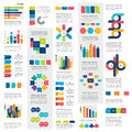 Mega set of infographics elements charts, graphs, circle charts, diagrams, speech bubbles.
