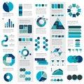 Mega set of infographics elements charts, graphs, circle charts, diagrams, speech bubbles.