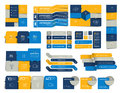 Mega set of infographics elements, schedules, tabs, banners, charts. Royalty Free Stock Photo