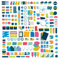 Mega set infographics flat design elements, schemes, charts, buttons, speech bubbles, stickers.