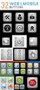 Mega vector set of metallic web / mobile buttons Royalty Free Stock Photo