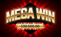 Mega Win banner Royalty Free Stock Photo