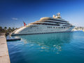 Mega yacht belonging to the super rich Royalty Free Stock Photo