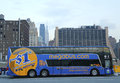 Megabus in midtown manhattan new york december on december com provides a low cost inter city travel with prices starting Royalty Free Stock Photography