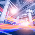 Megacity highway in china of city Royalty Free Stock Images