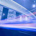 Megacity highway in china of shanghai Royalty Free Stock Photo