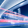 Megacity highway in china of shanghai Stock Photo