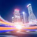Megacity highway in china of shanghai Stock Photography
