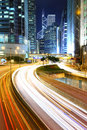 Megacity Highway at night Stock Photography
