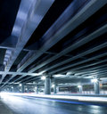 Megacity highway at night with light trails in beijing china Royalty Free Stock Photography